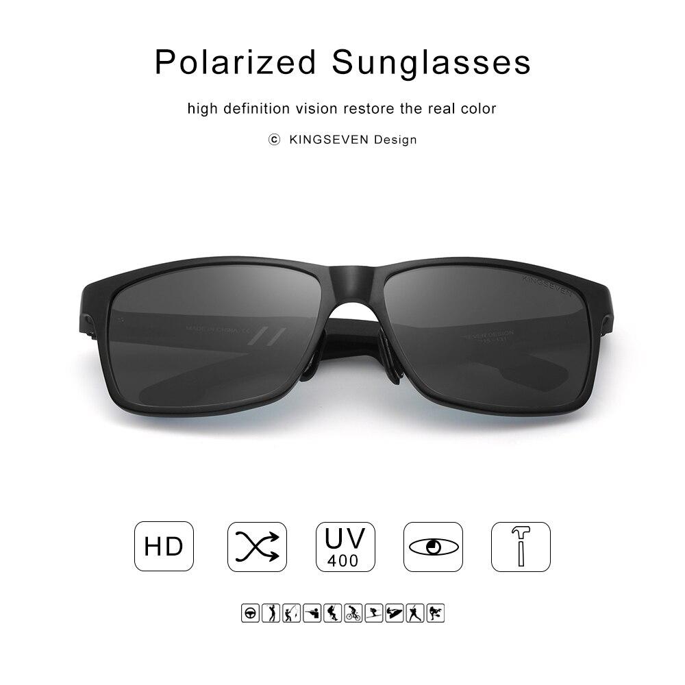 2018 Nuevo KINGSEVEN Gafas de Sol Polarizadas Hombres Diseñador de - Accesorios para la ropa - foto 3