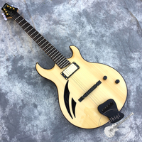 Free delivery, new custom electric guitar, semi hollow body, customizable.