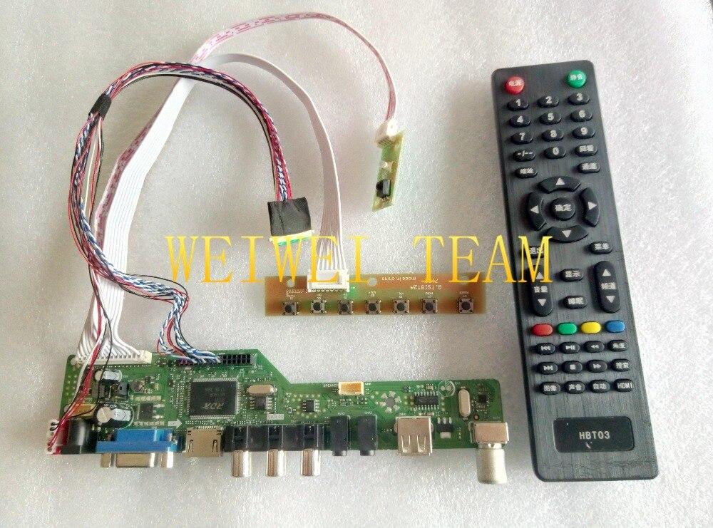 LCD LED screen Controller Driver Board kit for LM170E01-A4 TV+HDMI+VGA+USB