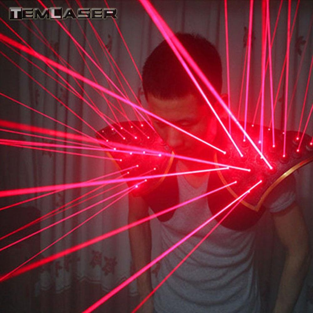 Rouge Laser Costume, LED Gilet, lumineux Gilet Laser Gants Lunettes Pour Laser Afficher Fluorescent parties, Bars, boîtes de nuit Costumes