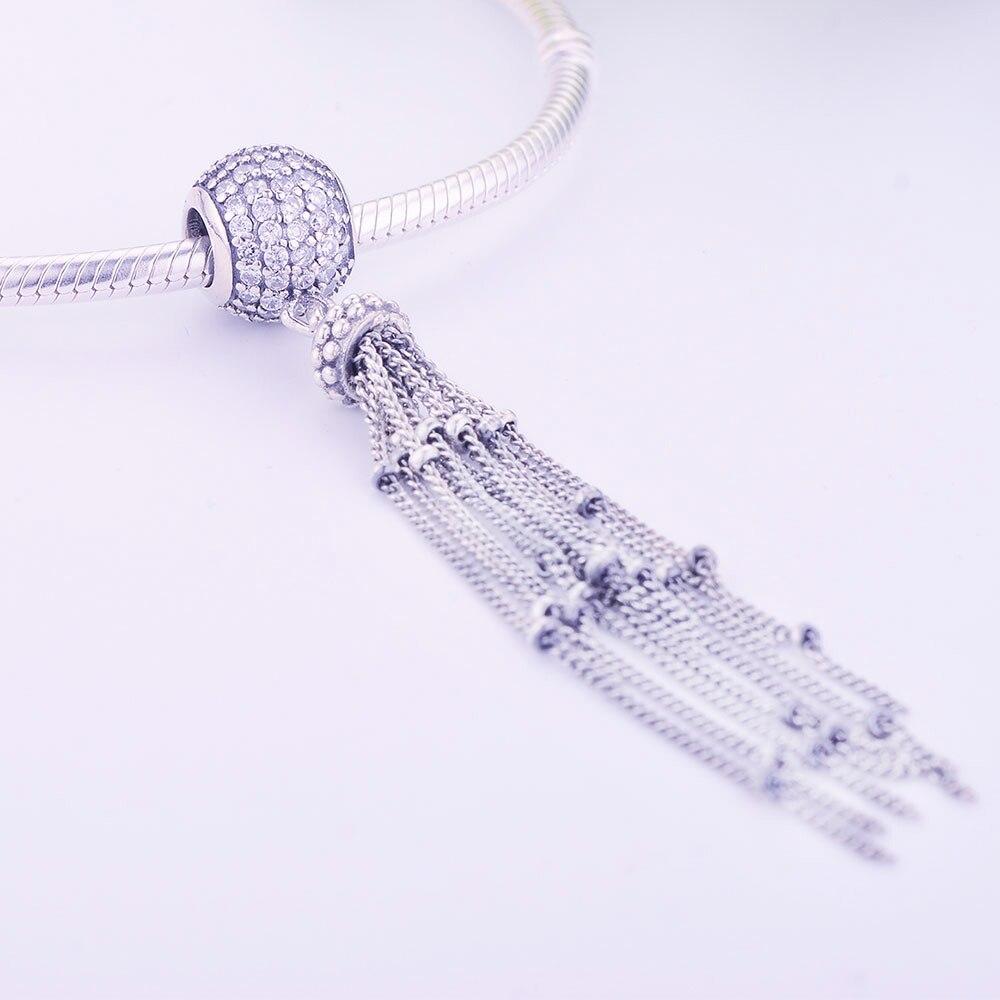 Fit Original Pandora Charm Bracelet Bangle 925 Sterling Silver Bead Enchanted Tassel Pendant Charm 2019 Spring DIY Jewelry Gift