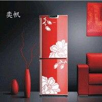 One Set Magnolia wall sticker refrigerator sticker creative elegant magnolia wall sticker kitchen home decor