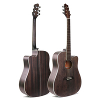 Steel string acoustic guitar 41 inch wood high performance plywood acoustic guitar