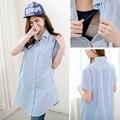 MamaLove Свободные одежда Для Беременных Долго Материнства футболки Уход топ Грудное Вскармливание Топы для беременных женщин кормящих Clothing