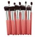 10 pçs/set Nova Multifuncional Makeup Brushes Set Professional Top Grade Foundation Pó Make up Brush Tool Cosméticos Kits