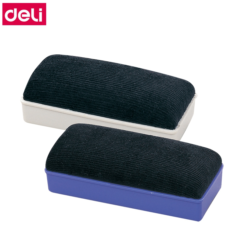 12PCS/LOT Deli 7837 Magnetic White Board Eraser Whiteboard Suction Brush Wholesale
