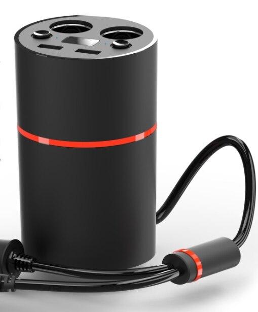 Modelo creativo coche energía taza elegante taza de cigarrillos cargador de coche doble USB (sin pantalla)