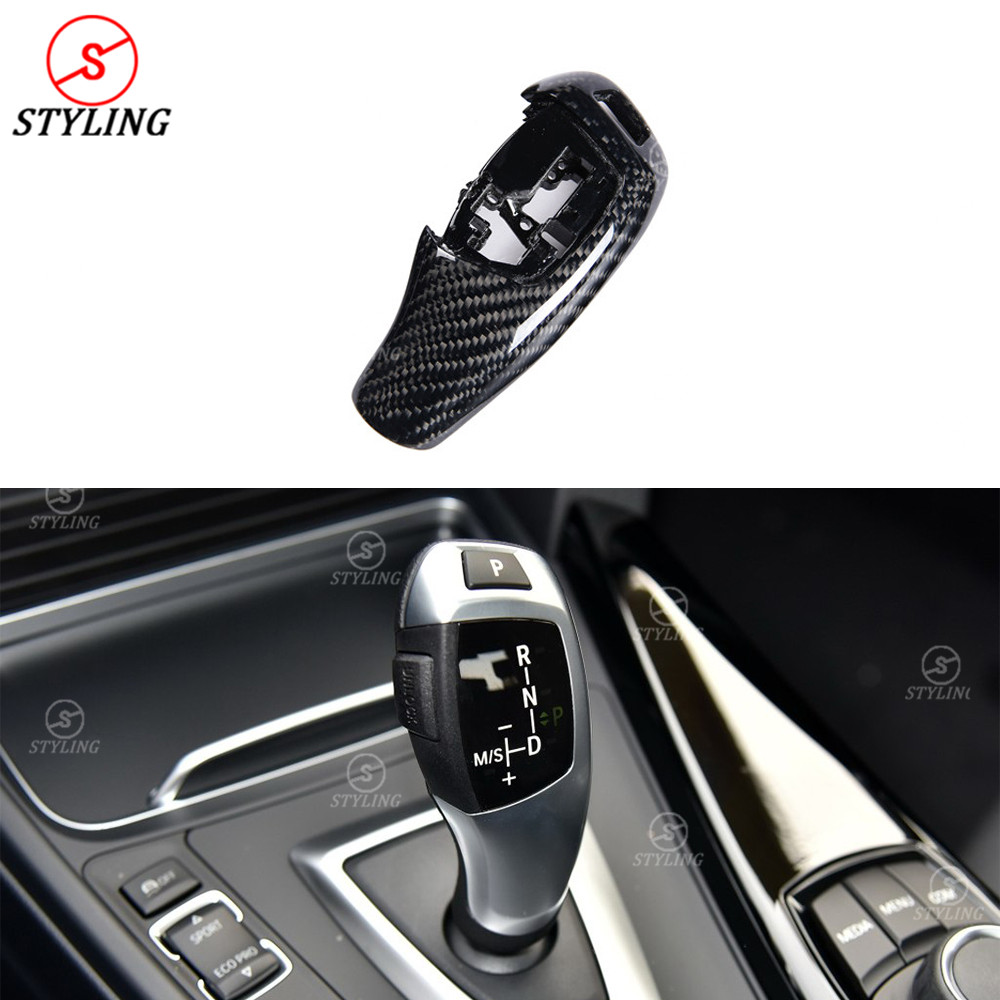 For BMW F20 F30 Carbon Gear shift knob Cover 1 2 3 4 5 6 7 X Series Carbon Fiber Gear Base Cover trim Replacement style 2009-UP колесные диски n2o y4601 6 5x16 5x114 3 d66 1 et40 carbon