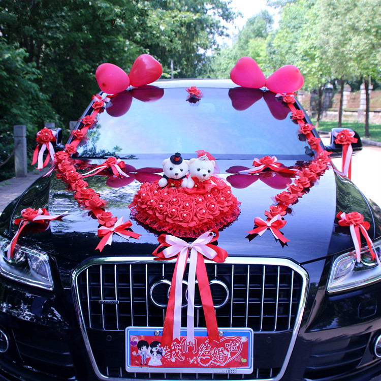 Image 5 - New Arrival  !  Wedding Cars Flower Cars  Wedding Centerpieces  Decor  Motorcade Simulation Flowers Set with Bear  Bridal FlowerParty  DIY Decorations