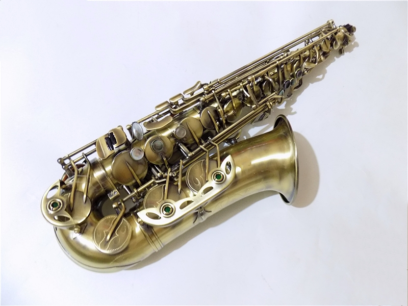 Antique Eb Alto saxophone with Case Brass Body woodwind Musical instruments professional