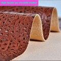 Bom Café Crocodilo Do Falso Tecido De Couro PU Grosso Colisão Saco Sapato Material de couro Sintético Pu Tecido De Couro Para Diy 69 * 50cm1pc