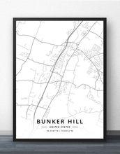 Bunker Hill Illinois Map.Bunker Hill Chicago Wheaton Il Illinois Usa United States Of America