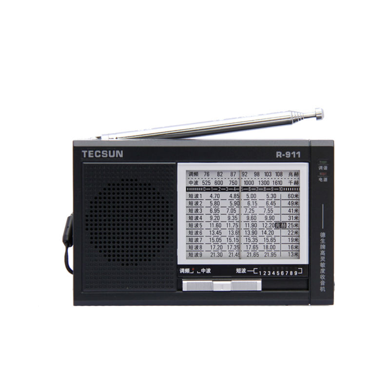 TECSUN R-911 AM / FM / SM (11 bandas) Multi Bandas de Rádio Receiver Broadcast Com Built-In Speaker R911 rádio