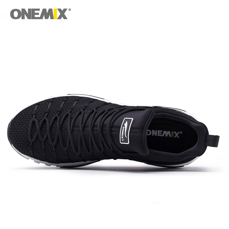 Onemix Men Running Shoes For Women Sneakers Black Max Cushion Trail Gym Ladies Jogging Trainers Outdoor Sport Walking Zapatillas-in Running Shoes from Sports & Entertainment    2