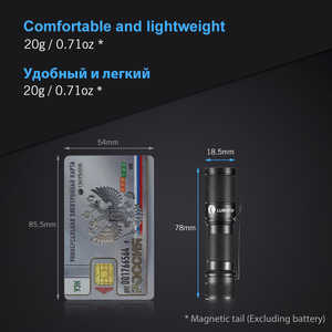 Image 2 - LUMINTOP EDC Mini Flashlight Tool AA 2.0  4  Outputs with Memory with Strobe  Max 127meters  Distance Max 650 Lumens for camping