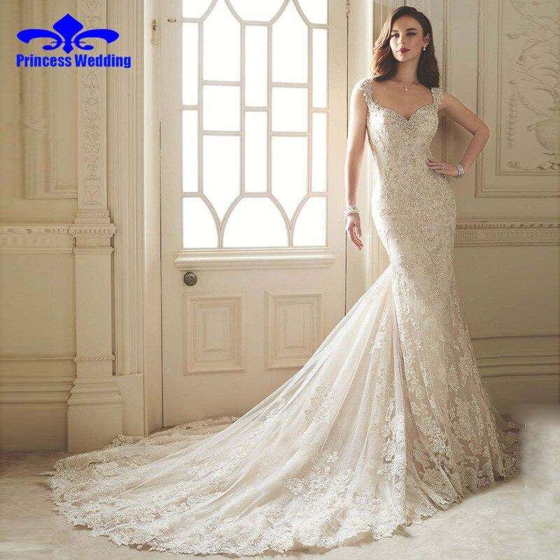 Vestido De Noiva Renda 2017 Vintage Lace Backless Wedding Dresses Bride Sexy Civil Mermaid Wedding Gowns