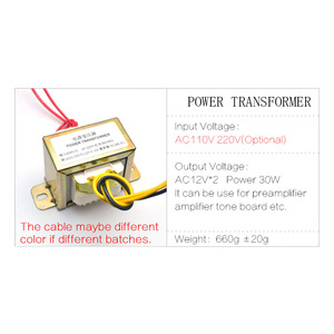 Image 3 - CIRMECH Dual ac 12v 30W Square EI transformer for preamplifer amplifer tone board use 110V 220V in optional