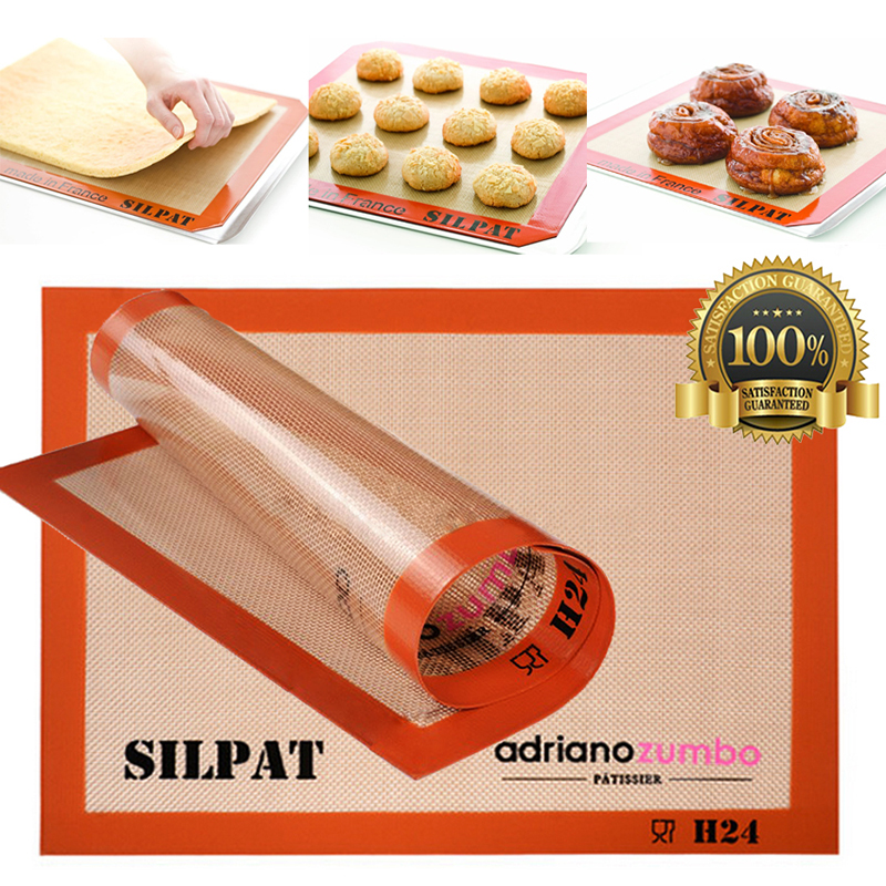 Baking Tray Silicone Cooking Non Stick Baking Liner Mat Durable Grip Non Toxic Durable Multi Functional
