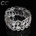 White gold plated wedding bridal jewelry women party bangles bracelets for women simulated diamond fashion jewelry E018