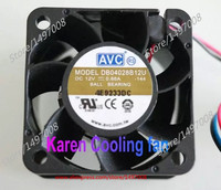 Free Shipping For AVC DB04028B12U, -144 DC 12V 0.66A 3-wire 60mm 40X40X28mm Server Square Cooling fan