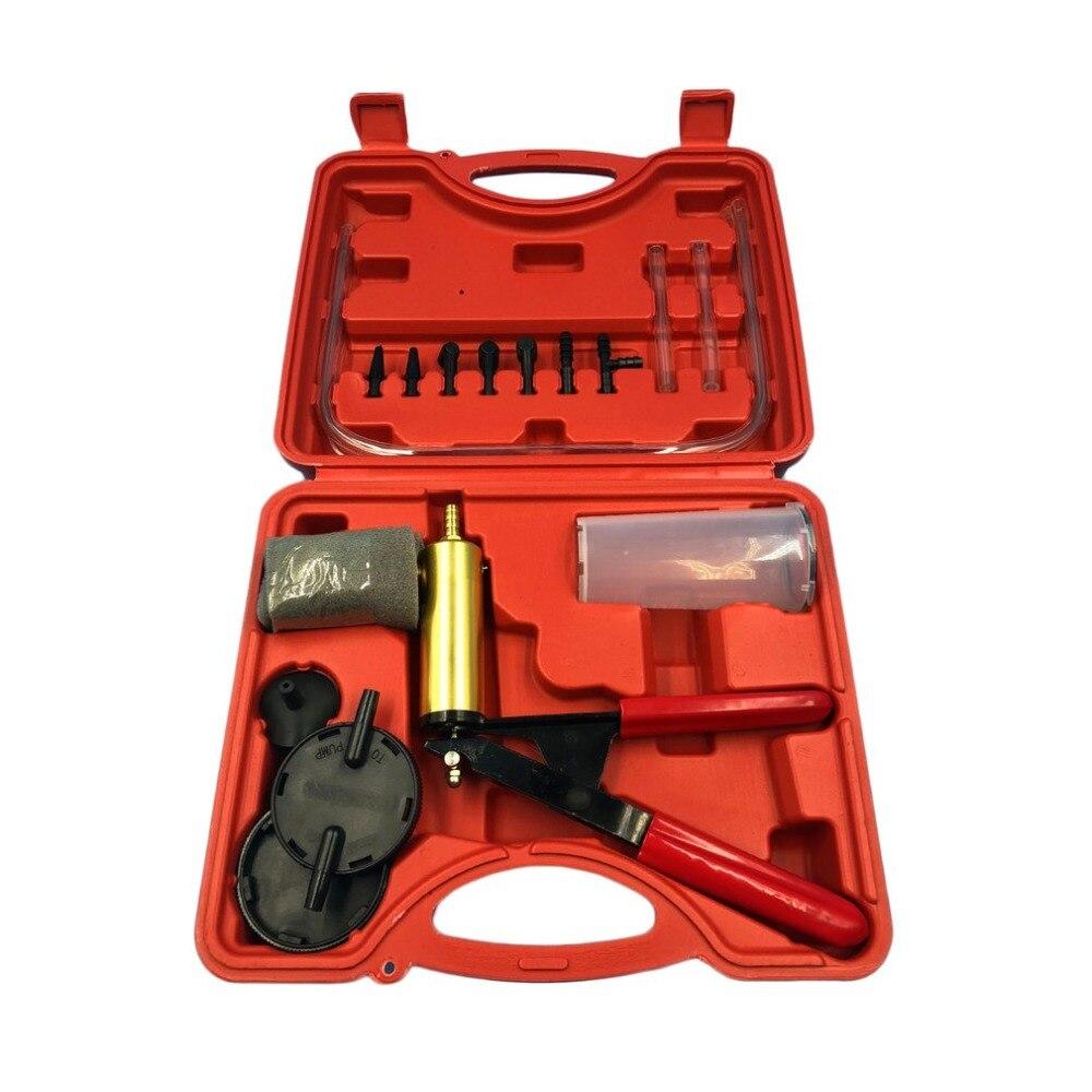 Universal 2 In 1 Auto Car Brake Fluid Bleeder Adapter Oil Change Hand Held Vacuum Pistol Pump Tester Kit DIY