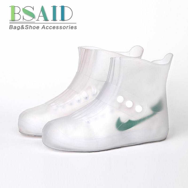 BSAID Waterproof Shoes Covers For Men Men Women Kids Non-slip Rain Cover Reusable Elastic Rain Boots Overshoes Size 30 to 45 tigergrip rubber non slip chef shoe cover flat men and women safety shoes covering lab nursing shoes waterproof overshoes