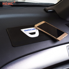 Car Accessories PVC Pad Non-slip Mat Fixed Cell Phone Glasses Mat for Dacia Logo for 1310 logan dokker duster sandero lodgy car styling metal car sticker accessories case for dacia duster logan sandero lodgy pads interior accessories car styling