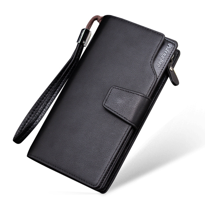 Genuine Leather Men Wallets Business Brand Card holder Coin Purse Men's Long Zipper Wallet Leather Clutch carteira masculina