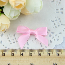Free Shipping 500pcs lot Fancy pink polyester gift bows package bows mini ribbon Bow