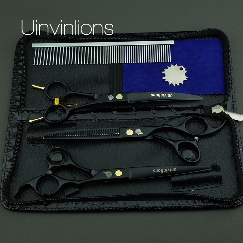 univinlions 7 dog groomer pet scissors dog grooming scissors for dogs horse trimming cat animal hair scissors kit hand clippers