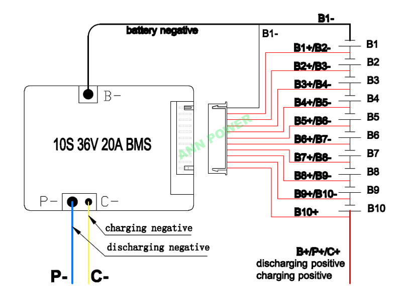 bms 36v wiring diagram wire center u2022 rh 207 246 102 26