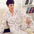 Mens plaid Cotton Pajamas Set Pyjamas Set Pjs Sleepwear Loungewear S, M ,L ,XL,2XL,3XL Plus Size__Fits All Season