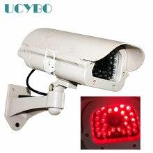 Главная пустышка поддельные Камера красный светодиодный свет наружного наблюдения поддельный обманный беспроводного видеонаблюдения ИК WI-FI Камера де seguranca