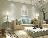 Beibehang Luxury Continental Damascus Flocking Nonwovens Wall Paper Living Room Bedroom Background Papel De Parede 3d