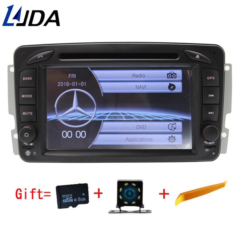 LJDA 2 Din Voiture Lecteur DVD pour Mercedes Benz W203 W208 W209 W210 W463 W168 ML W163 W463 Viano W639 radio bluetooth Gps navigation