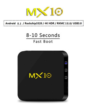 MX10 4GB RAM 64GB ROM Best Android 8.1 TV BOX 2018 RK3328 Quad Core 4K HDR Media Player 2.4G WIFI