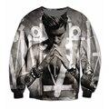 Mulheres homens Justin Bieber com 3D impressão de lã camisola Crewneck Plus Size moda roupas suores Jumper