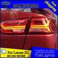 Стайлинга автомобилей СВЕТОДИОДНЫЕ Задние Лампы для Mitsubishi Lancer EX Задние Фонари 2010-2016 Задний Фонарь DRL + Сигнал Поворота + стоп-сигнал для Audi стиль
