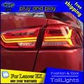 Estilo do carro levou cauda luzes da cauda da lâmpada para mitsubishi lancer ex 2010-2016 drl + turn signal luz traseira + luz de freio para audi estilo