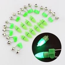 10 шт. светодиодный фонарик ночник электронный рыбалка укус Сигнализация Finder лампа двойные колокольчики наконечник клип на рождественский подарок, брелок