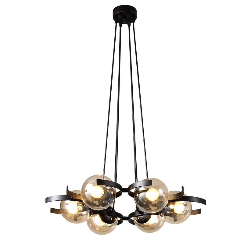 Vintage Magic Beans loft Modo Chandelier 6 heads led modo chandelier dna modo light glass ball bar with 7w led bulb Bedroom