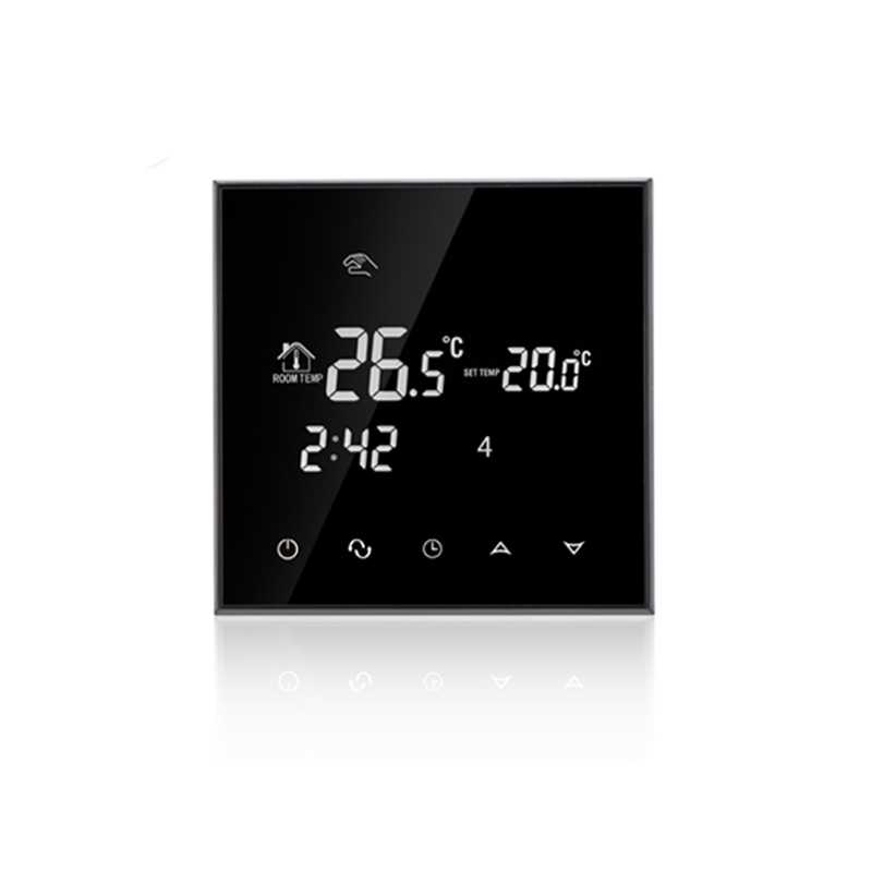 все цены на Free Shipping HY03WE Black Large LCD Touch Screen Programmable Digital Room Thermostat For Electric Floor Heating онлайн