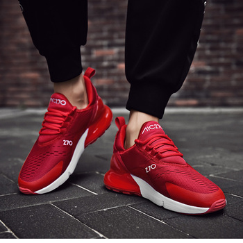 Red w/ White Breathable Sneaker