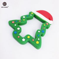 Silicone Christmas Tree Baby Silicone Accessory Safe And Natural Can Chew Food Grade Teether DIY Crafts
