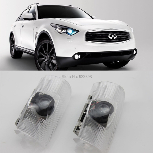 Free Shipping,4x Laser LED Door Courtesy Welcome Shadow Light For Infiniti  FX G35 M