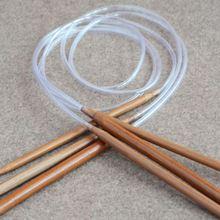80 см длинные круговые спицы 2,0 мм, 2,5 2,75 3 3,25 3,5-10,0 мм Гладкие Бамбуковые Спицы для вязания крючком Крючки