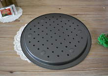 1PC 14 Pizza Oven Baking Punch Pan Round Dish Non Stick Cake Pie Tray Mold Kitchen Tools JC 0508
