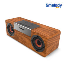 Portable Wooden Bluetooth Wireless Speaker 3D HiFi Stereo TWS Loudpeaker FM Simple And Fashion Home And Office R0422(China)