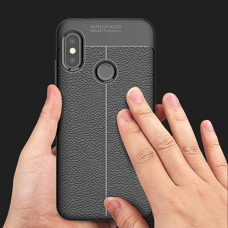 YUETUO tpu leather Pattern phone back etui,coque,cover,case for <font><b>xiaomi</b></font> <font><b>mi</b></font> a2 lite a 2 <font><b>a2lite</b></font> my for xiomi silicone accessories image