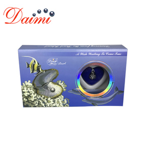 DMWB003 Wish Boxes Pearl Pendant Necklace Natural Mussel Beads For Mother's Day Gift